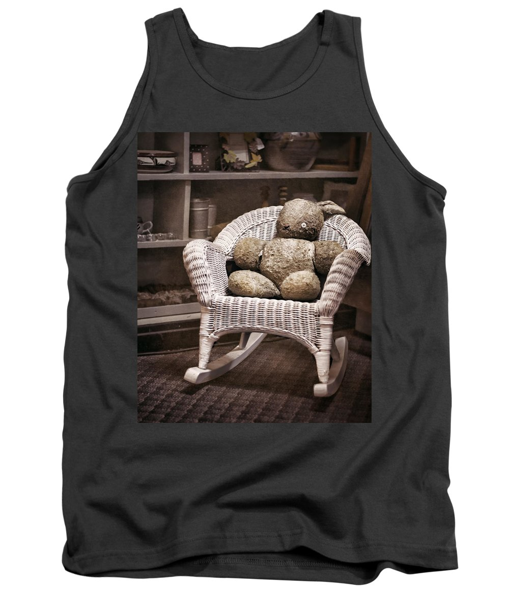 Stuffed Animal Tank Top featuring the photograph Old Friend by Heather Applegate