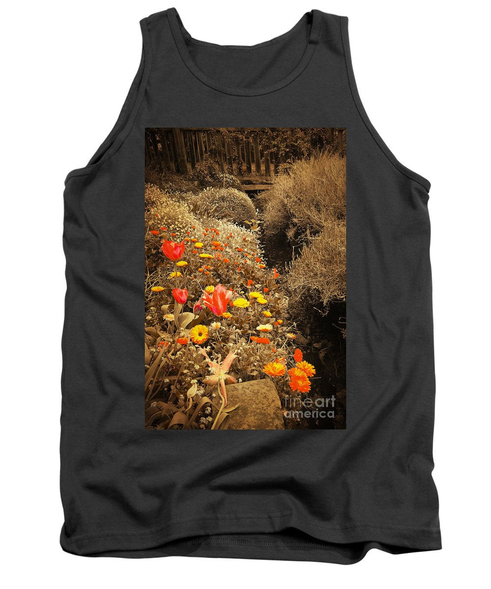 Vintage Tank Top featuring the photograph Old Garden by Phill Petrovic