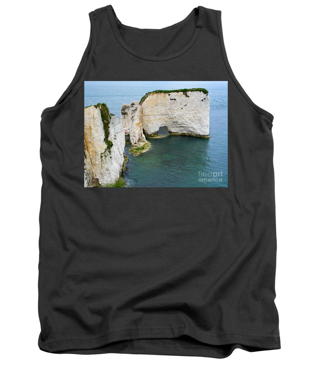 Chalk Tank Top featuring the photograph Old Harry Rocks On The Jurassic Coast In Dorset by Louise Heusinkveld
