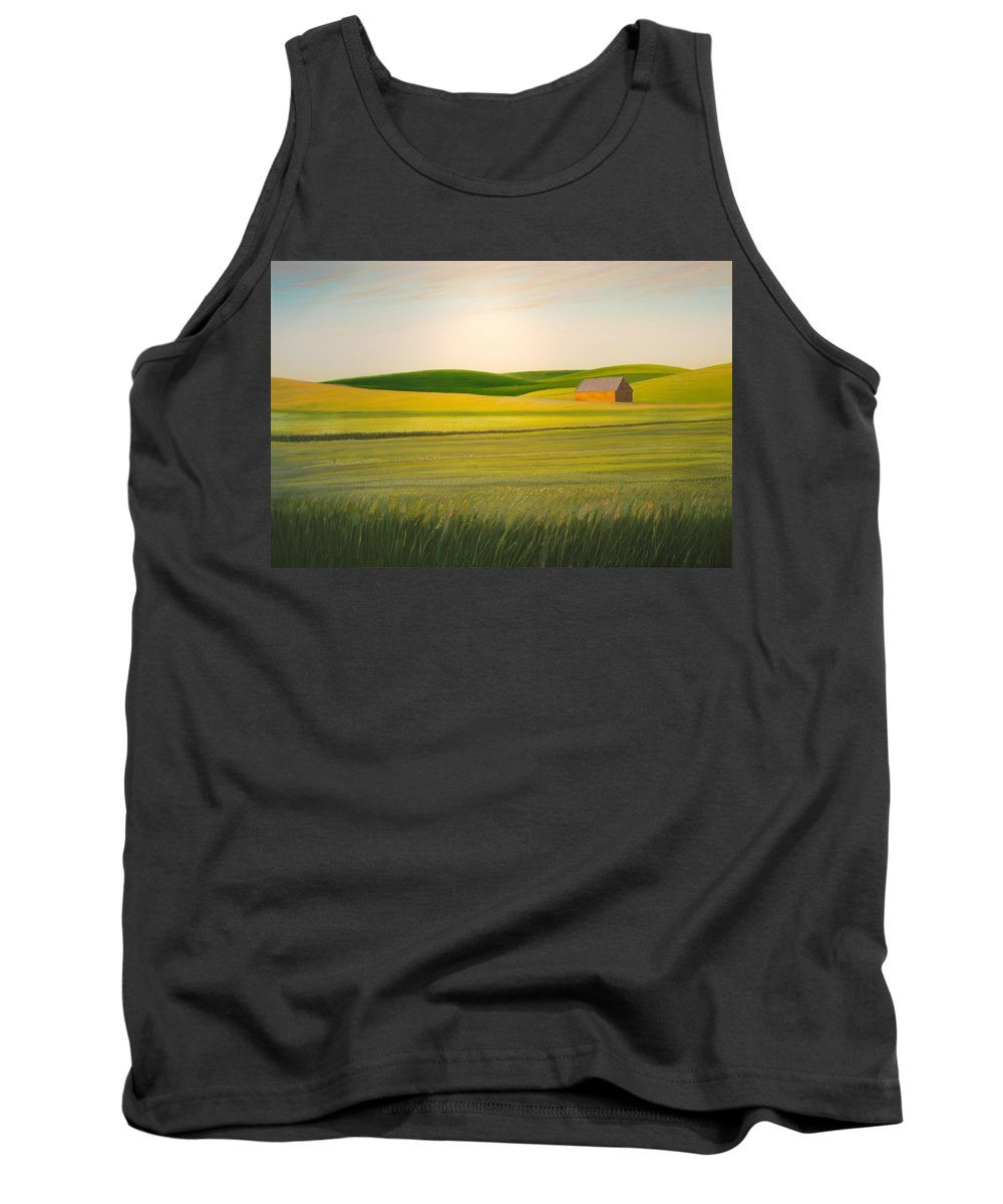 Wheat Tank Top featuring the painting Old Highway 95 by Leonard Heid