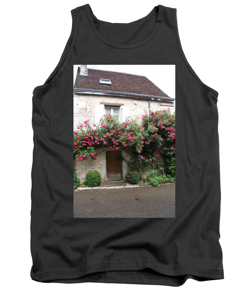 Rose Tank Top featuring the photograph Old House Covered With Roses by Christiane Schulze Art And Photography
