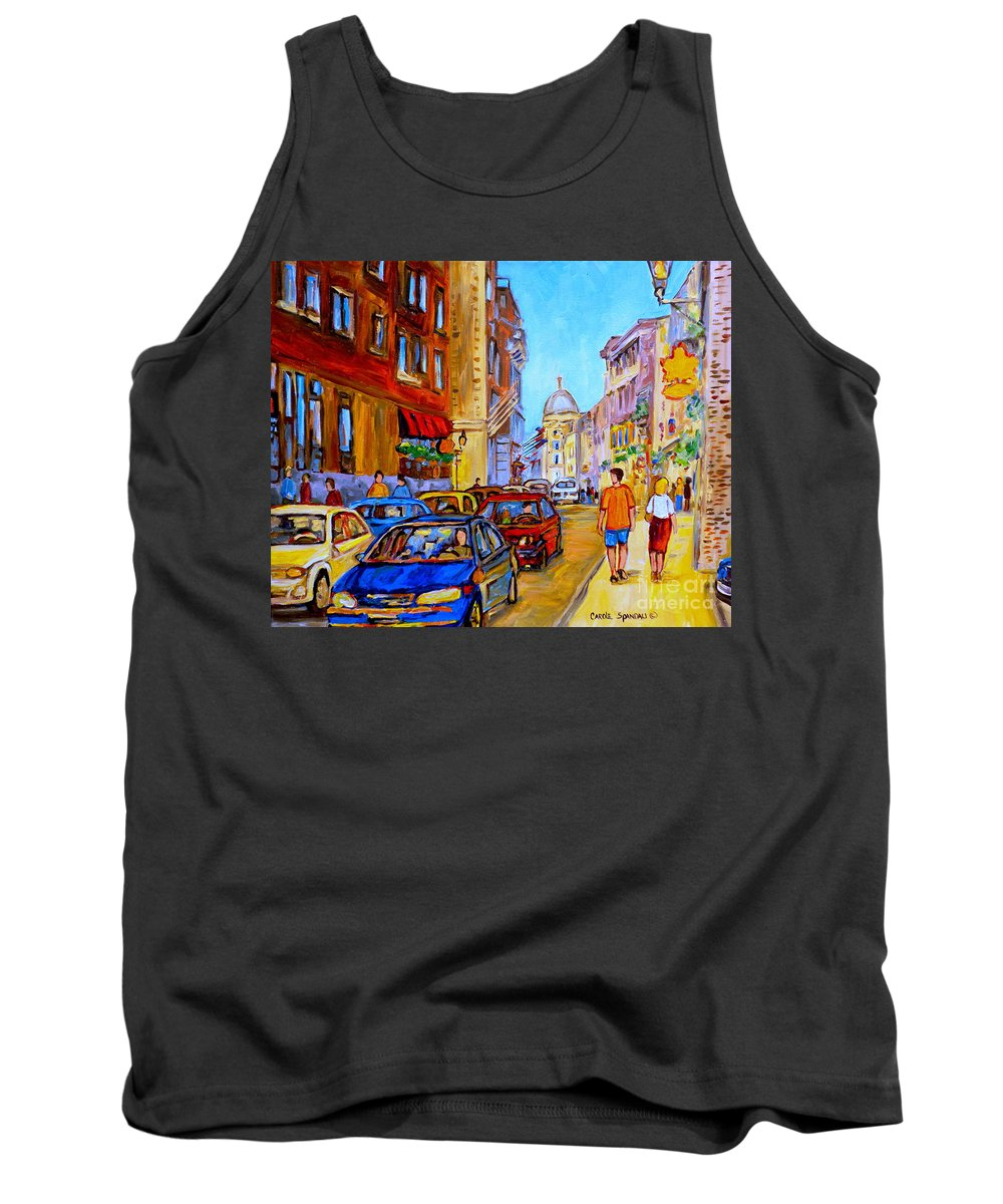Old Montreal Street Scenes Tank Top featuring the painting Old Montreal by Carole Spandau