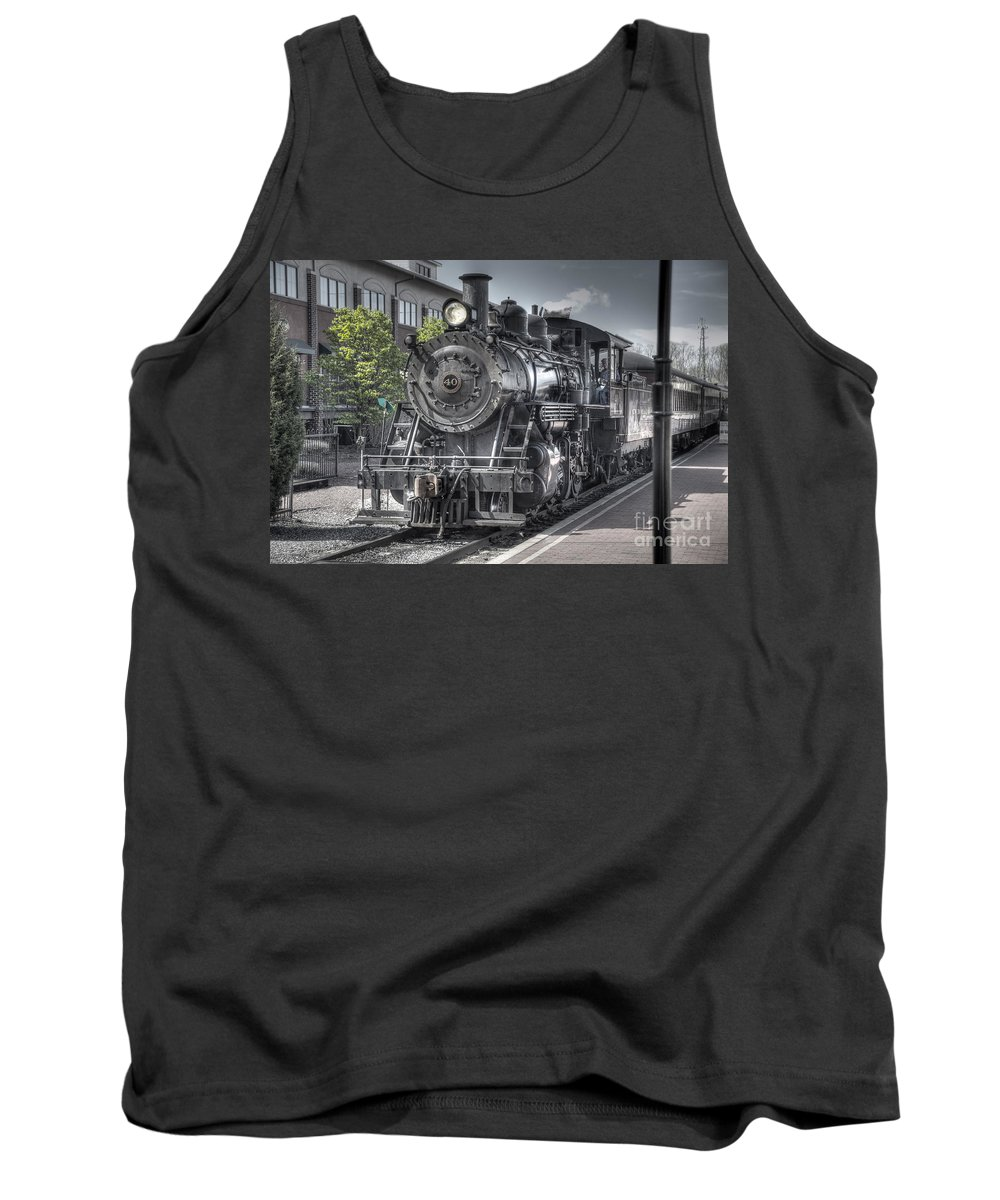 Train Tank Top featuring the photograph Old Number 40 by Anthony Sacco