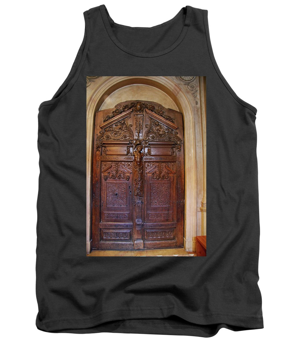 Door Tank Top featuring the photograph Old Ornamented Door by Christiane Schulze Art And Photography