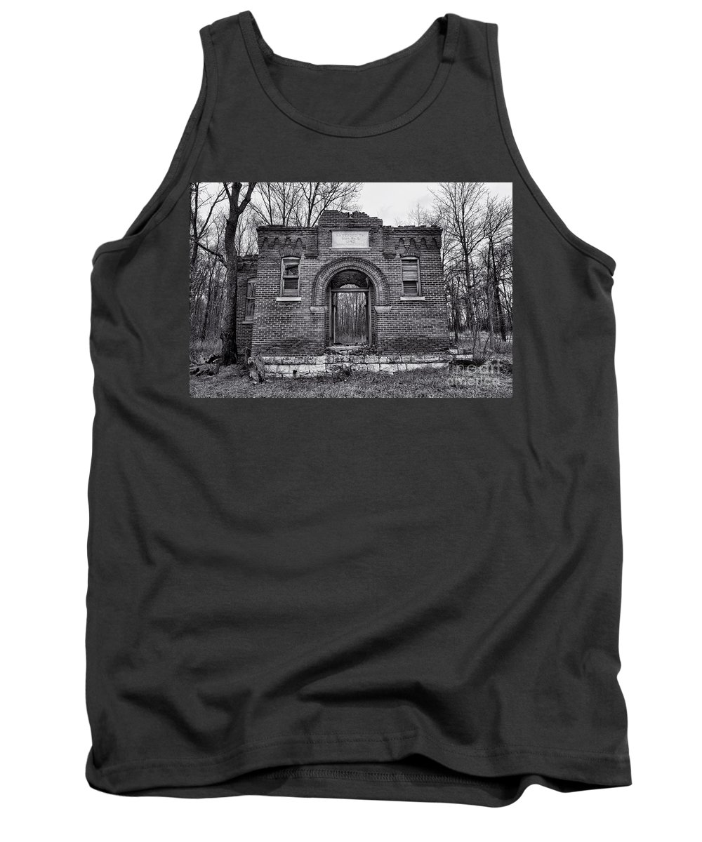 Old School Tank Top featuring the photograph Old School Bw by David Arment