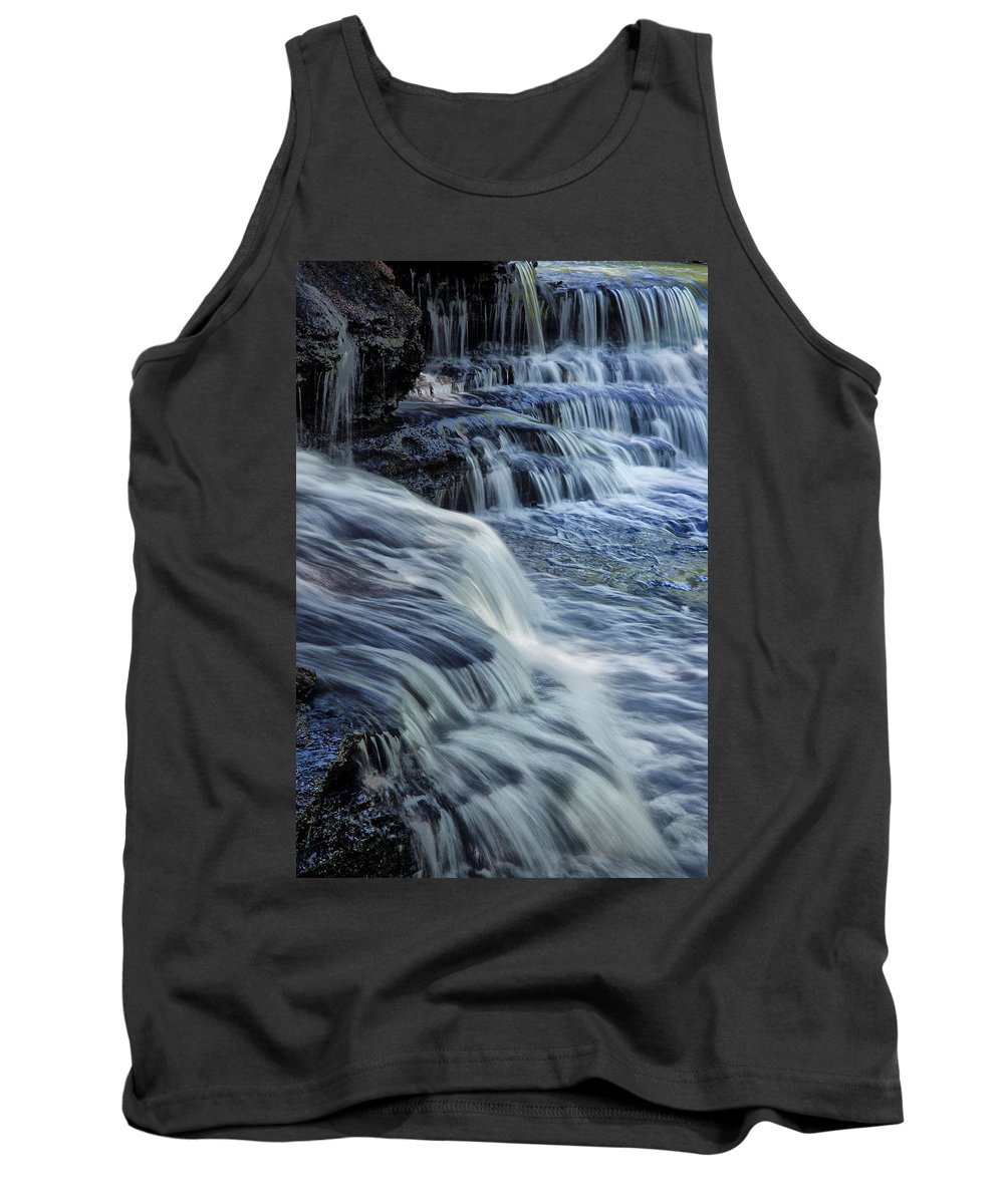 Water Tank Top featuring the photograph Old Stone Fort Waterfall by Diana Powell