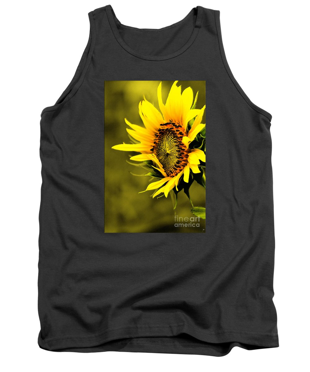 Plant Tank Top featuring the photograph Old Time Sunflower by Sandra Clark