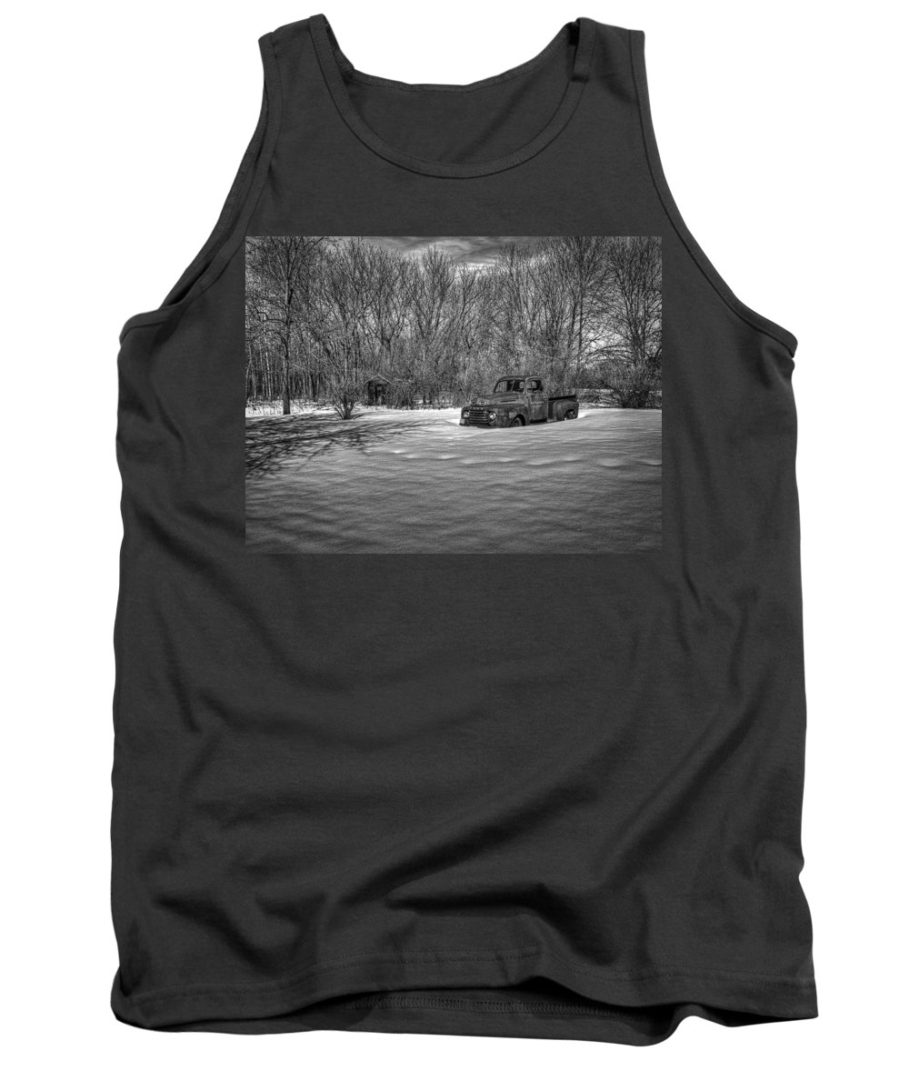 Ford Truck Tank Top featuring the photograph Old Timer In The Snow by Thomas Young