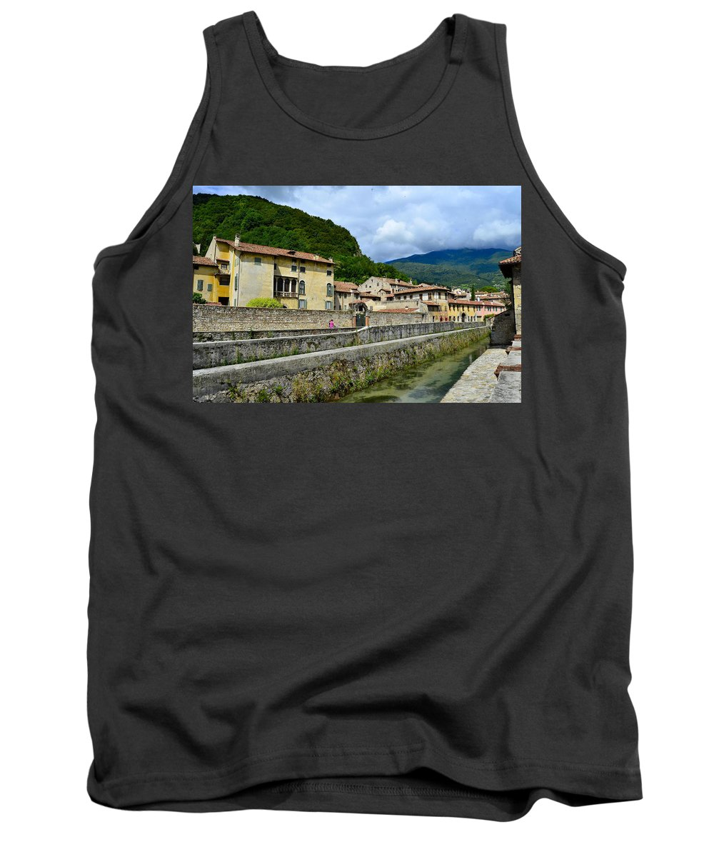 Old City Tank Top featuring the photograph Houses And Roofs by Salvatore Gabrielli