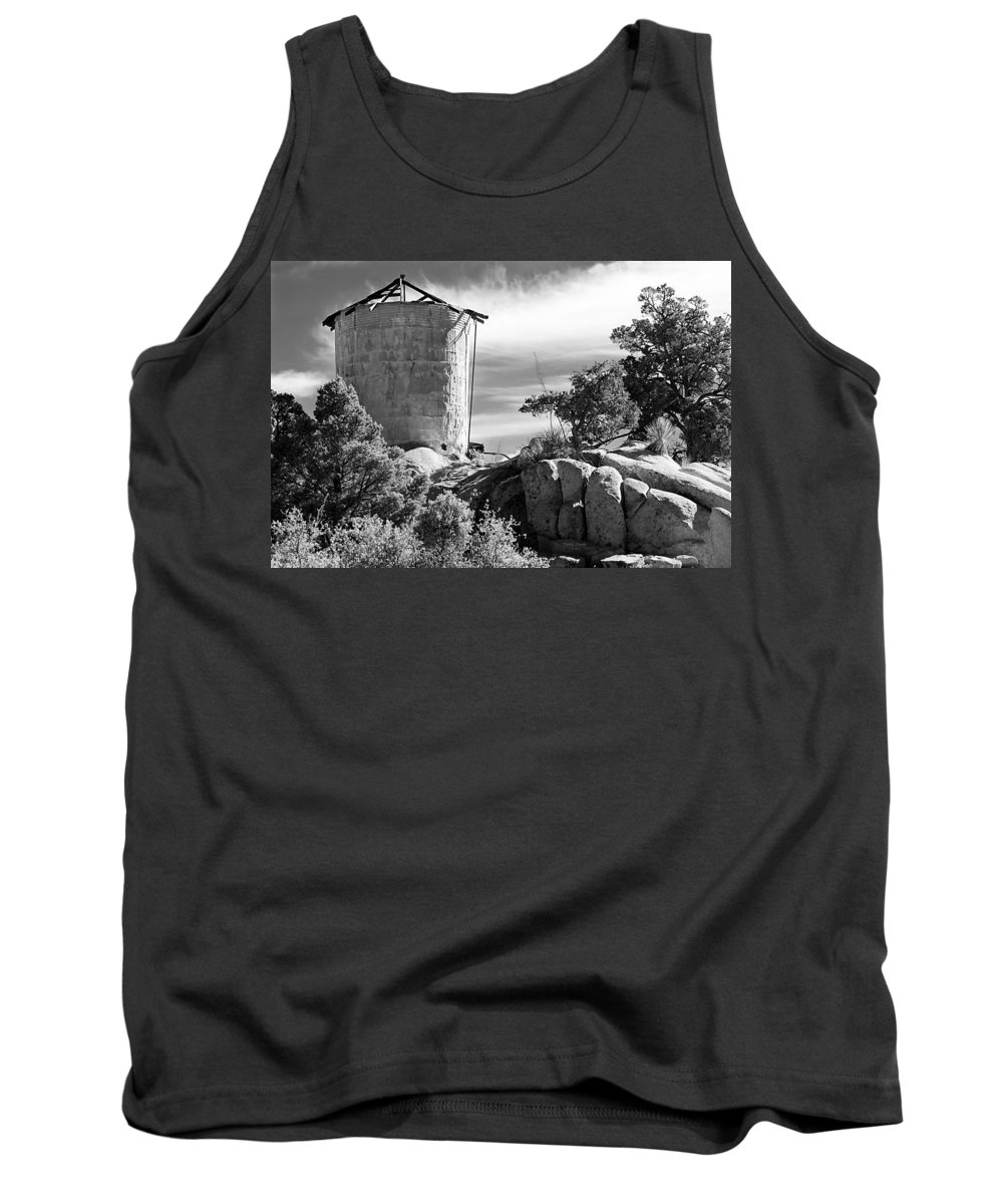 Tower Tank Top featuring the photograph Old Water Tower by Phyllis Denton
