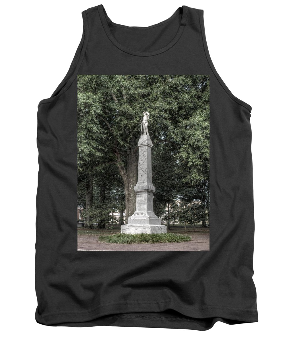Ole Miss Tank Top featuring the photograph Ole Miss Confederate Statue by Joshua House