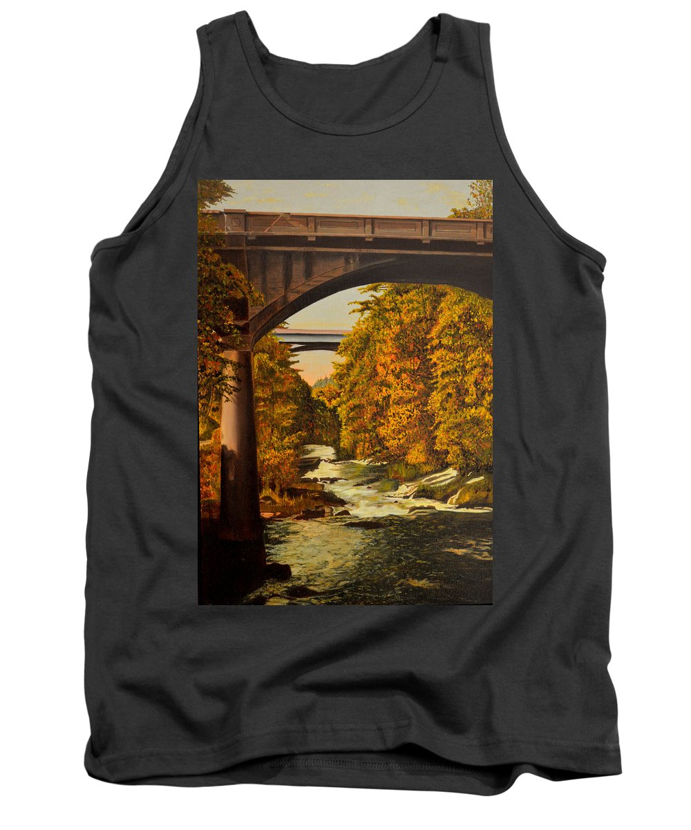 Bridge Tank Top featuring the painting Olympia by Thu Nguyen