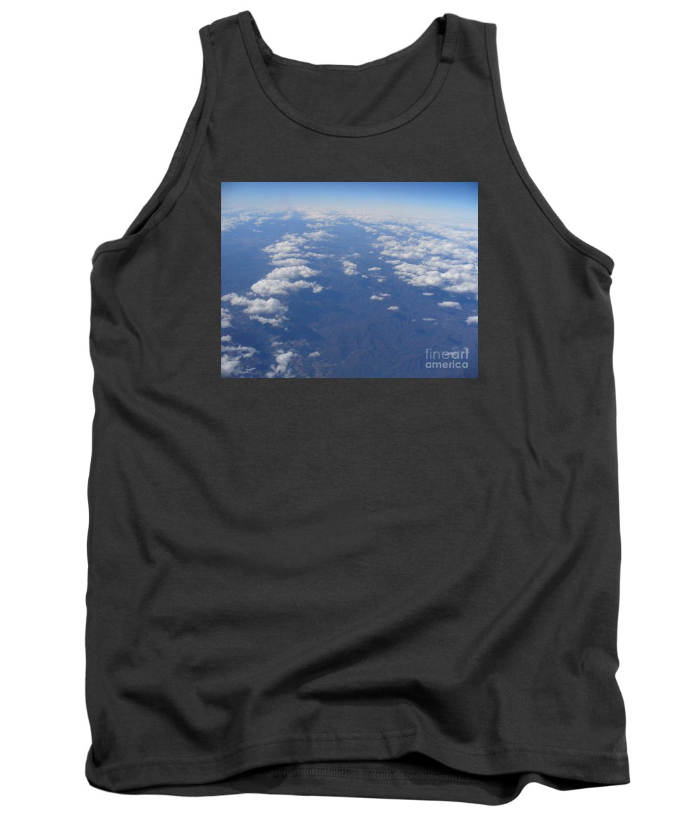 Aerial View Photography Tank Top featuring the photograph On A Clear Day You Can See Miles Away by Lingfai Leung
