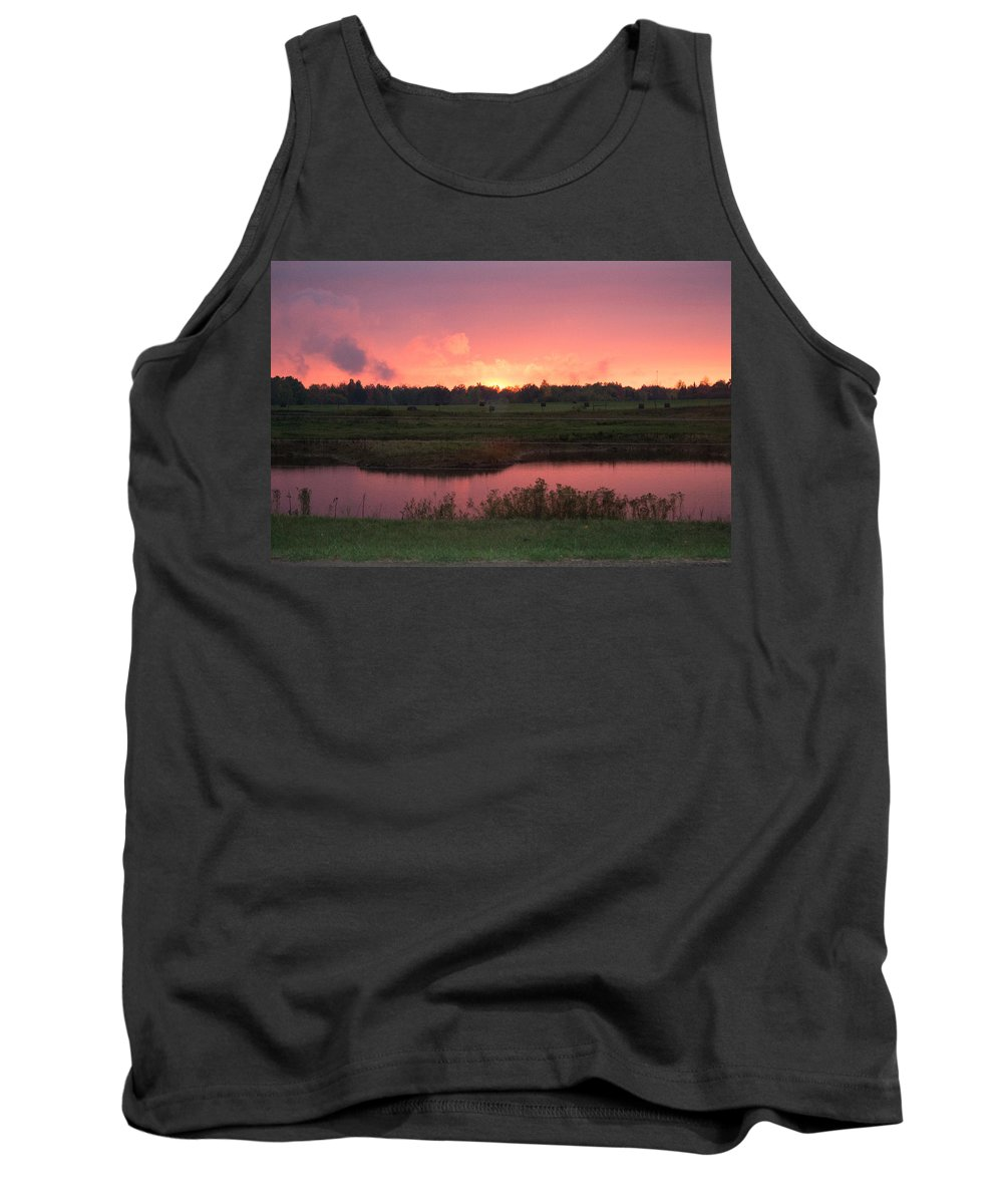 Lake Tank Top featuring the photograph On Fire by Linda Kerkau