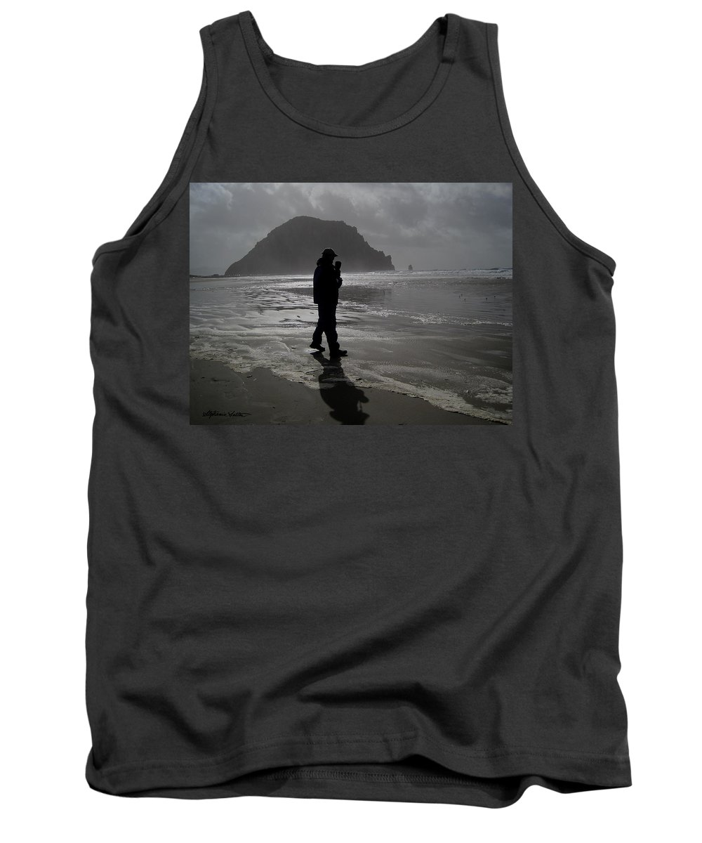 Landscape Tank Top featuring the photograph On The Beach by Stephanie Salter