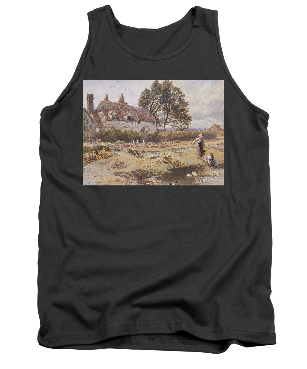 On Tank Top featuring the painting On The Common Hambledon Surrey by Myles Birket Foster