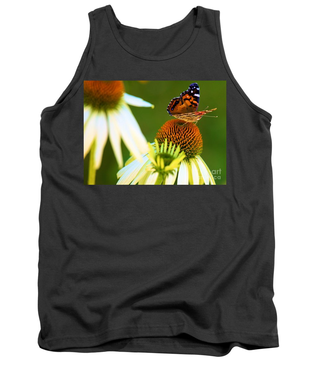 Butterfly Tank Top featuring the photograph On The Edge Of Glory by Adam Jewell