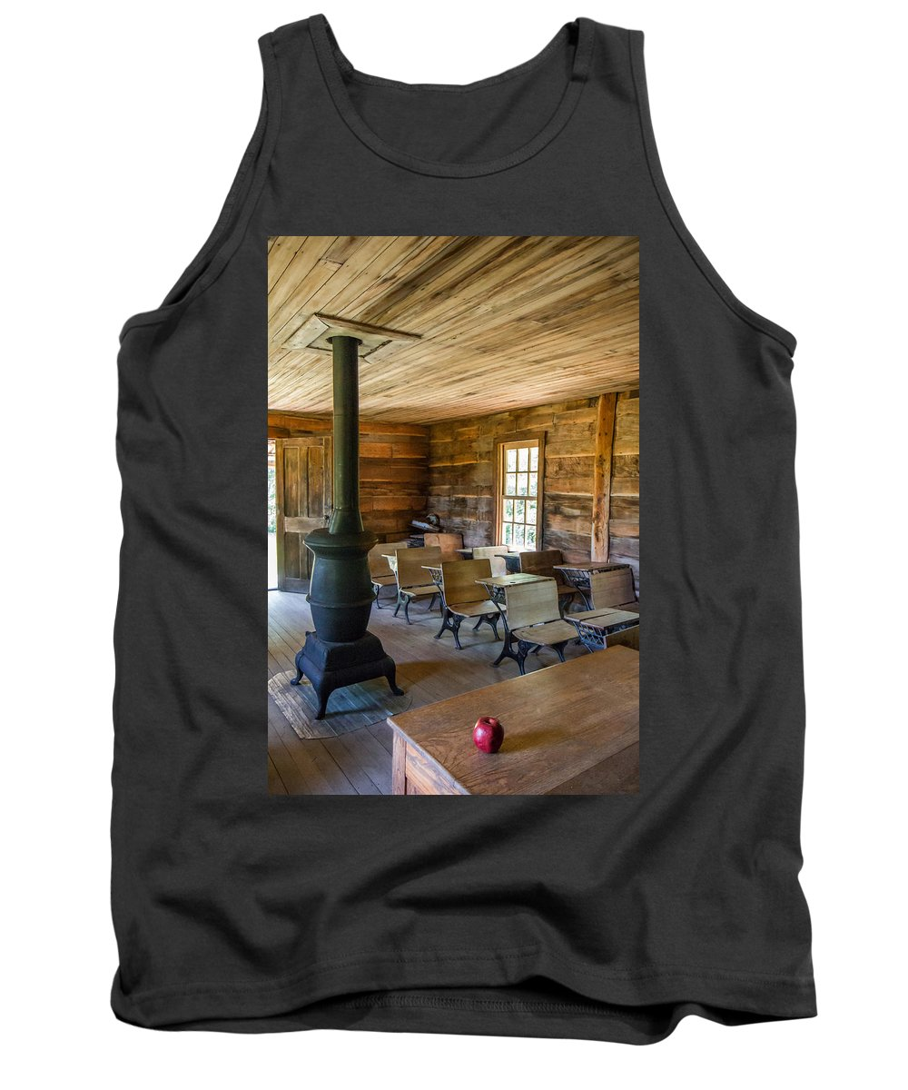 Cumberland Gap National Historical Park Tank Top featuring the photograph One Room Schoolhouse by Mary Almond