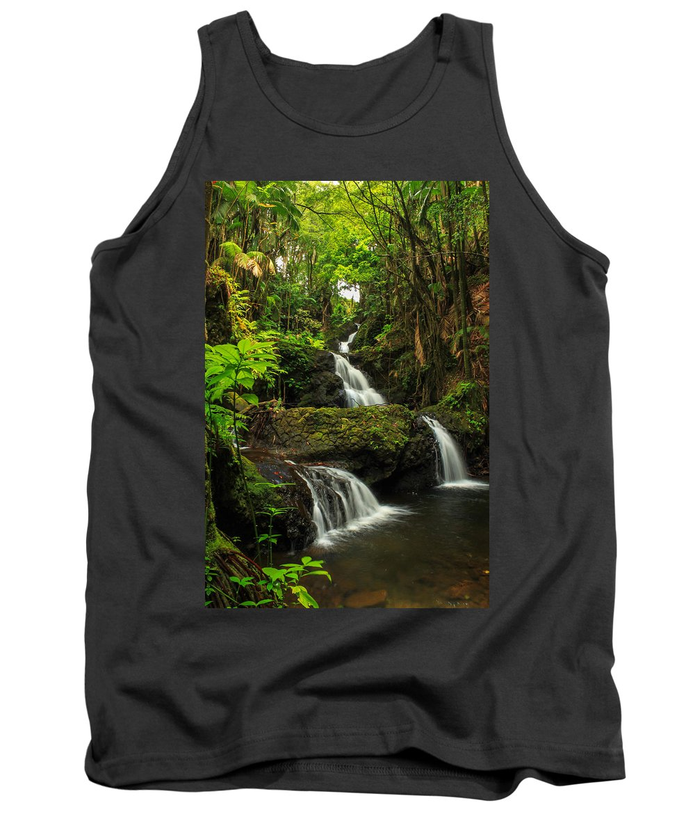 Waterfall Tank Top featuring the photograph Onomea Falls by James Eddy