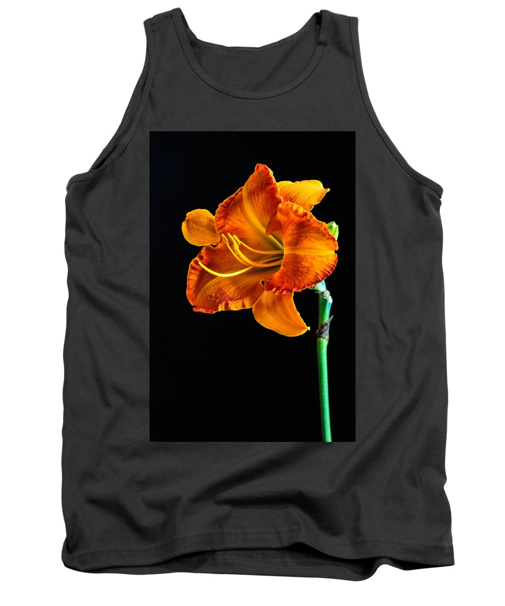 Lily Tank Top featuring the photograph Orange Lily by Randy Walton