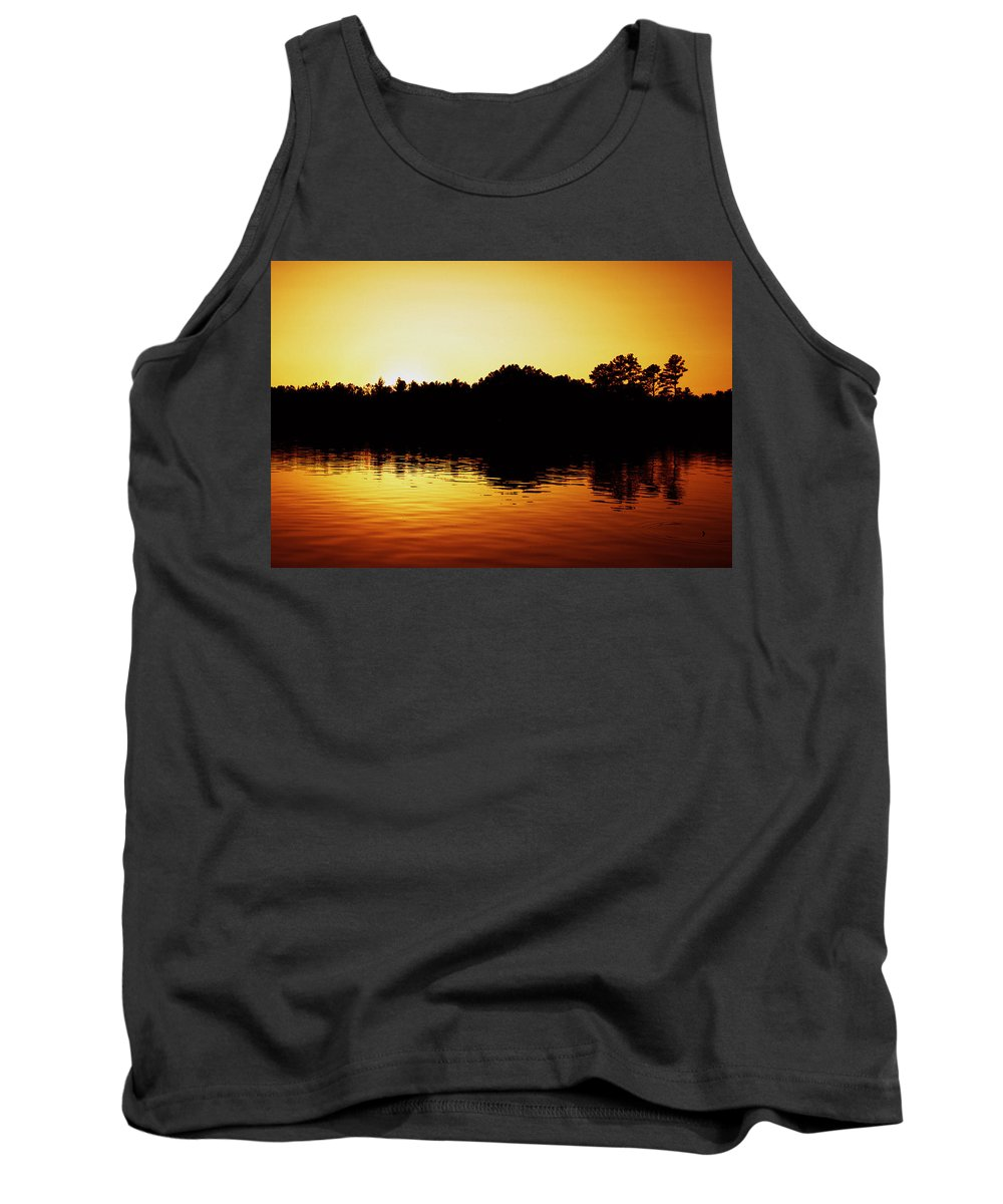 Orange Sunset Tank Top featuring the photograph Orange Sunset by Shannon Louder