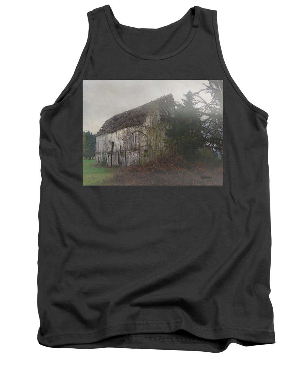 Barn Tank Top featuring the painting Oregon Relic by RC DeWinter