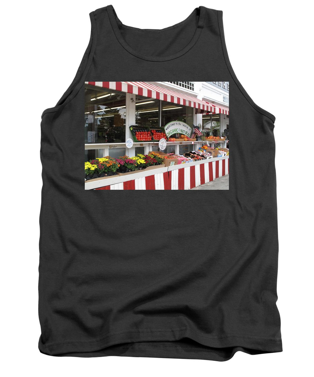 Produce Tank Top featuring the photograph Organic And Natural by Barbara McDevitt
