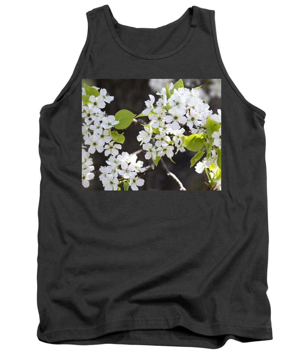 Spring Flowers Tank Top featuring the photograph Ornamental Pear Blossoms No. 1 by Greg Hager