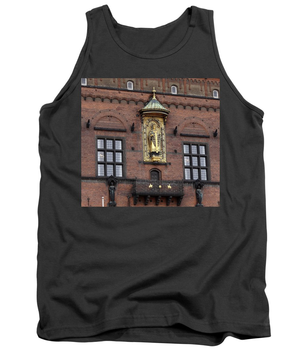 Ornate Building Artwork Tank Top featuring the photograph Ornate Building Artwork In Copenhagen by Richard Rosenshein