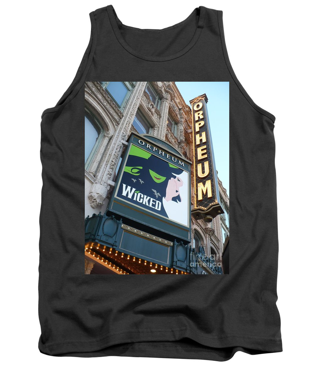 City Tank Top featuring the photograph Orpheum Sign by Carol Groenen