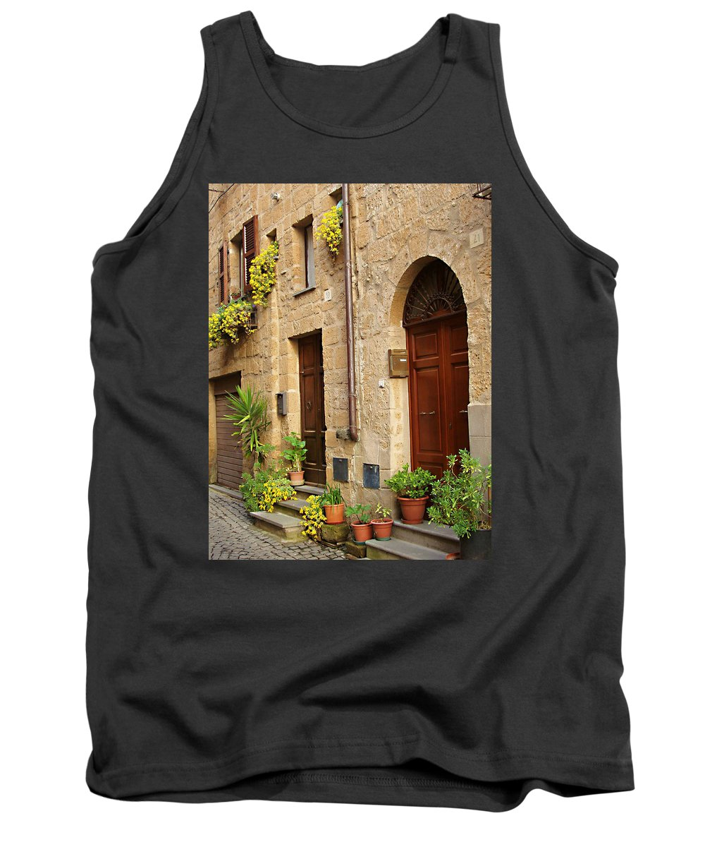 Orvieto Homes Tank Top featuring the photograph Orvieto Homes by Ellen Henneke