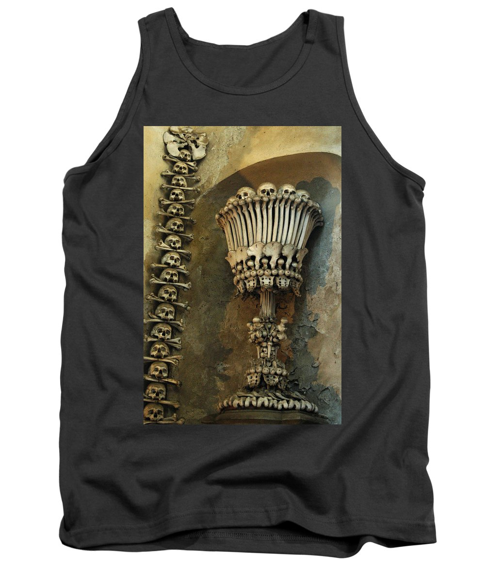 Czech Republic Tank Top featuring the photograph Ossuary Chalice by Michael Kirk