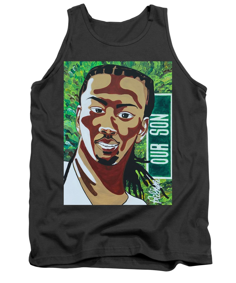 Aliya Michelle Tank Top featuring the painting Our Son by Aliya Michelle