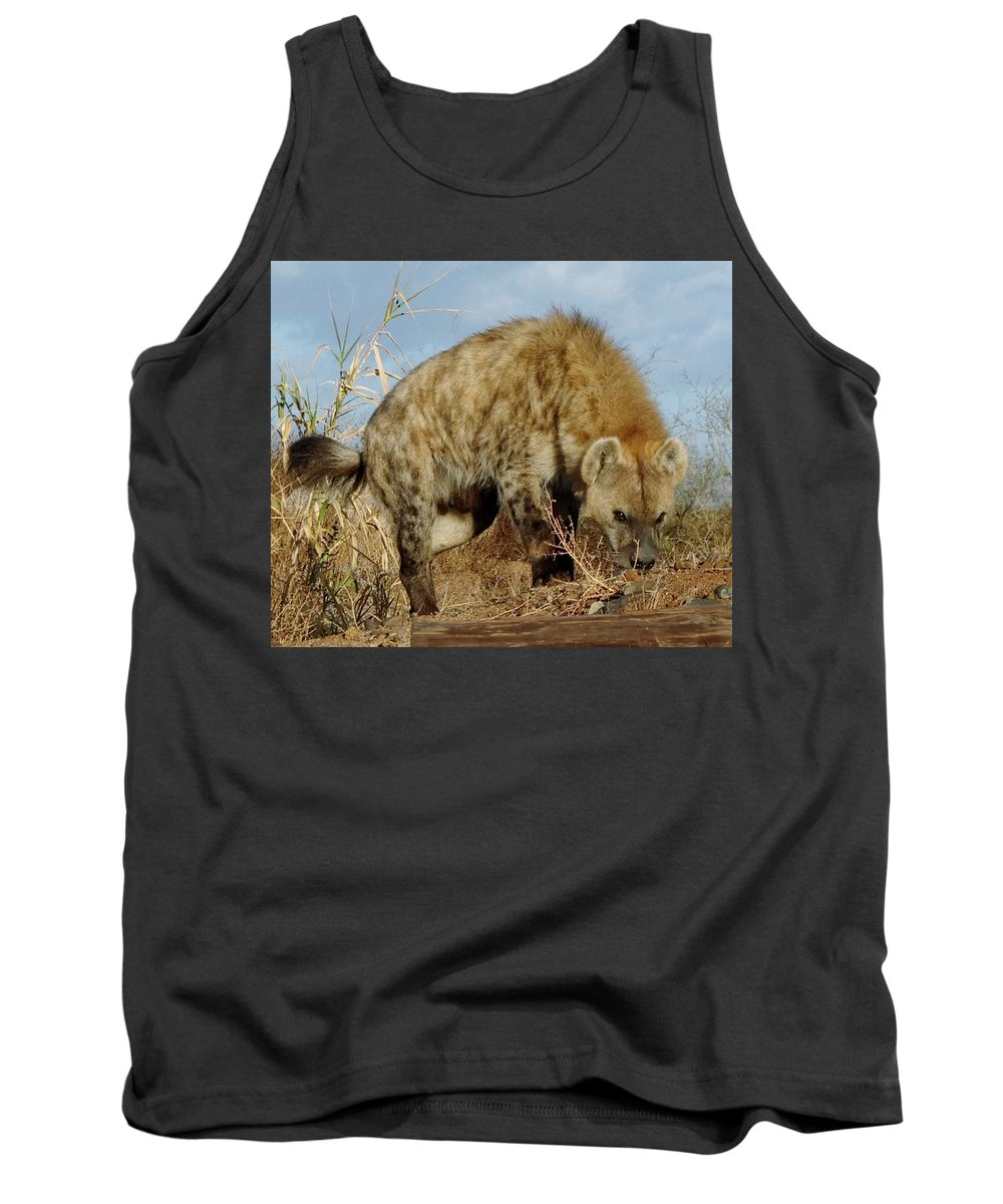 Out Of Africa Tank Top featuring the photograph Out Of Africa Hyena 1 by Phyllis Spoor
