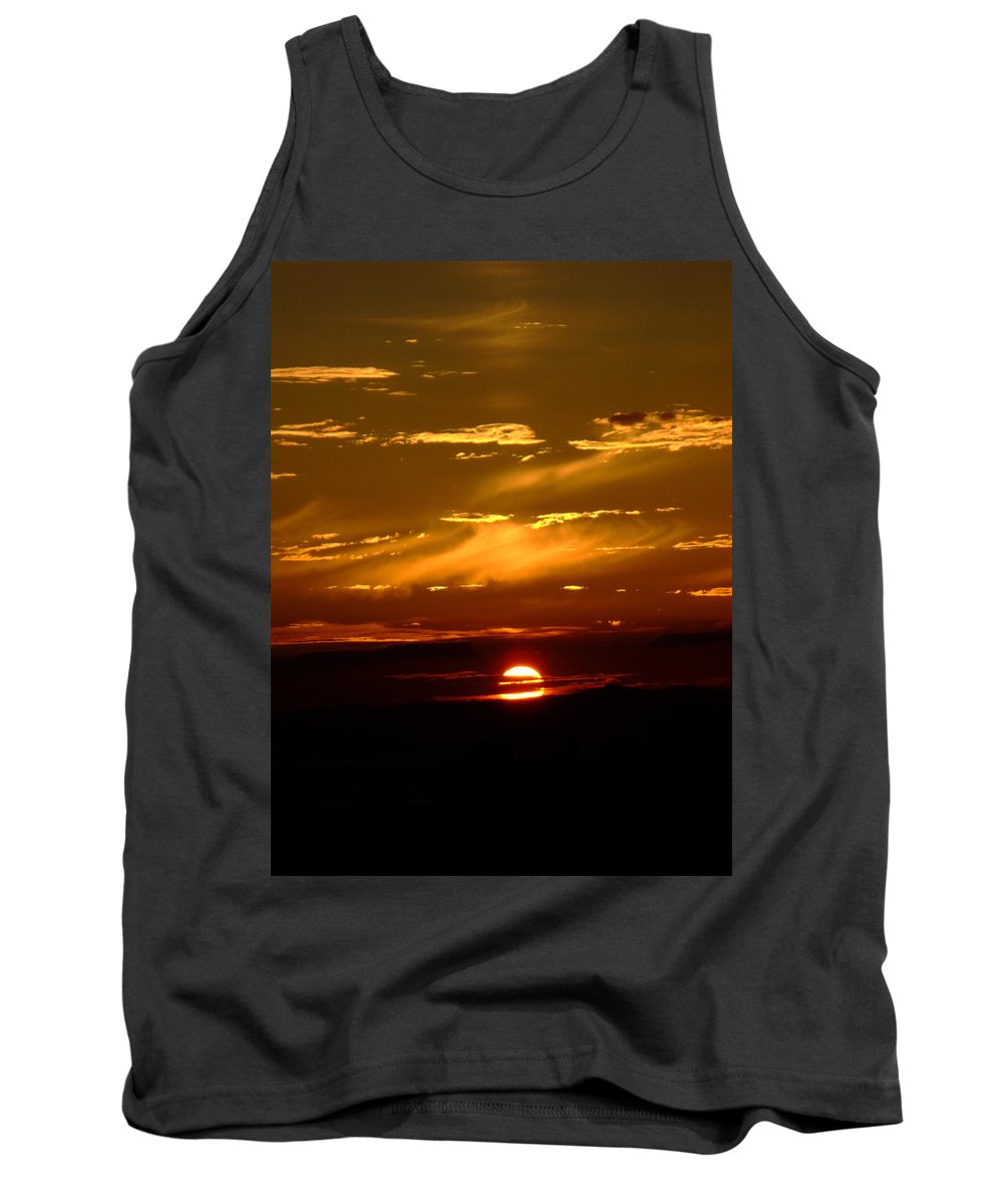 Sunset Tank Top featuring the photograph Out Of The Earth's Core by Donna Blackhall