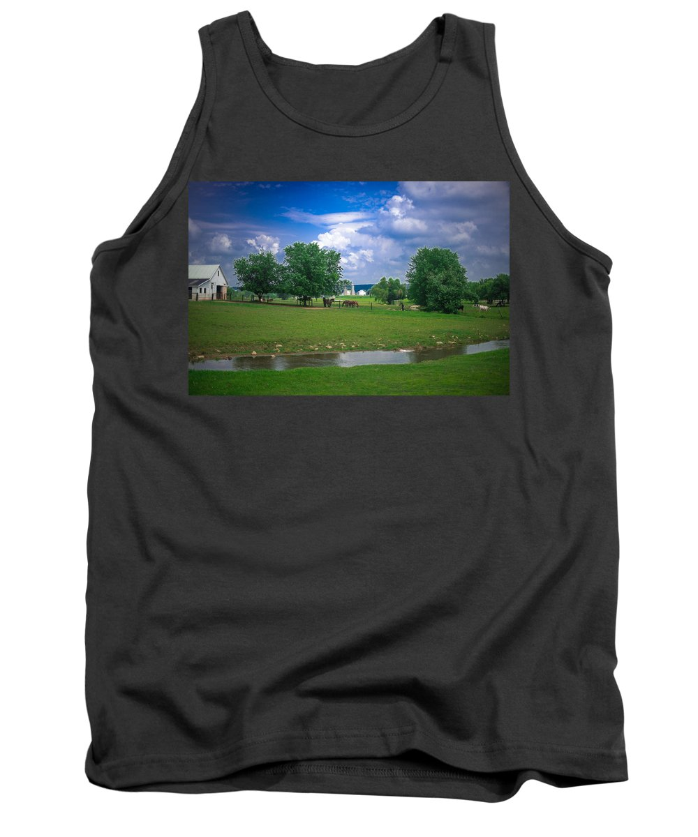 Farm Tank Top featuring the photograph Out To Pasture by Joedes Photography