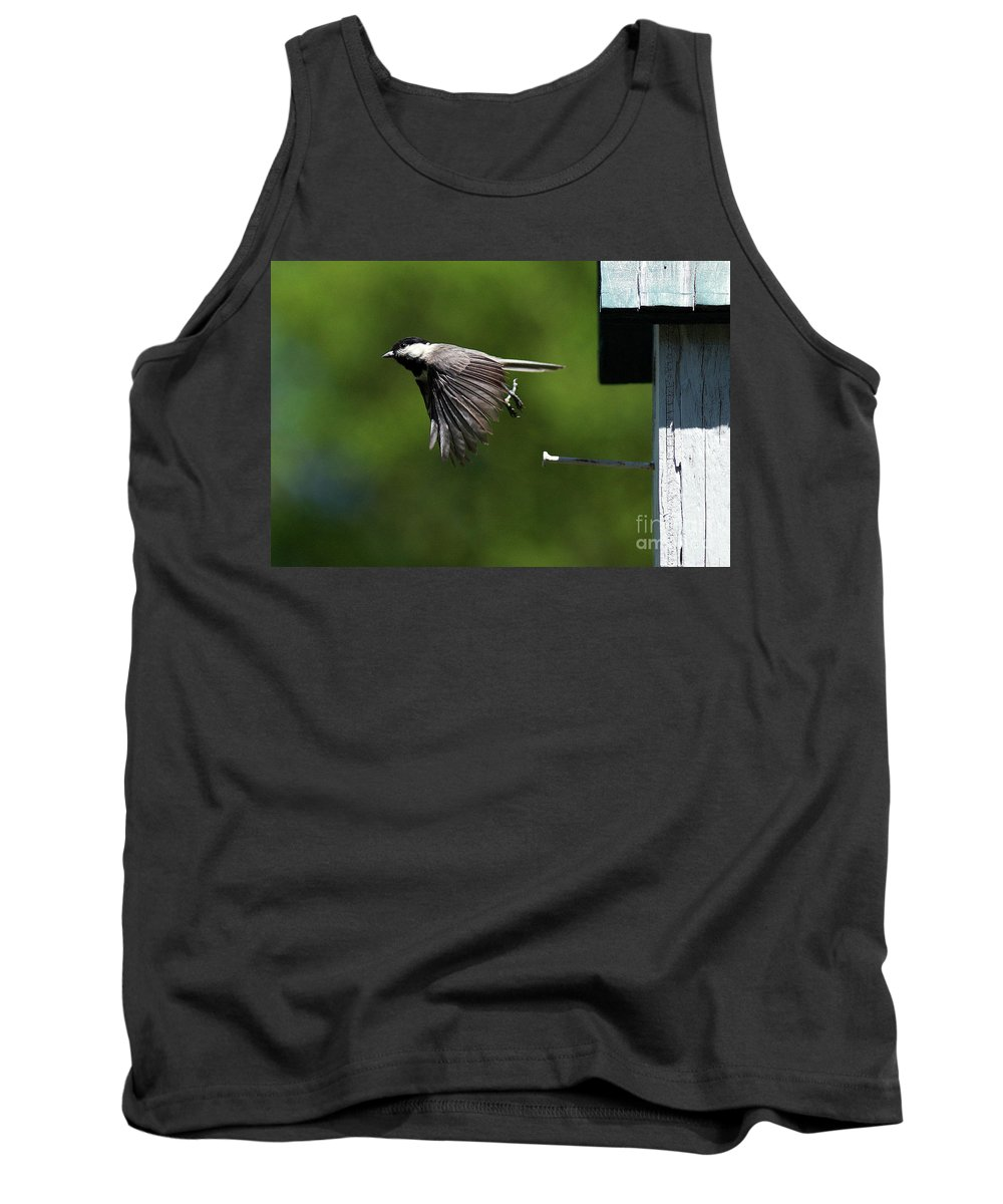 Chickadee Tank Top featuring the photograph Outgoing by Douglas Stucky