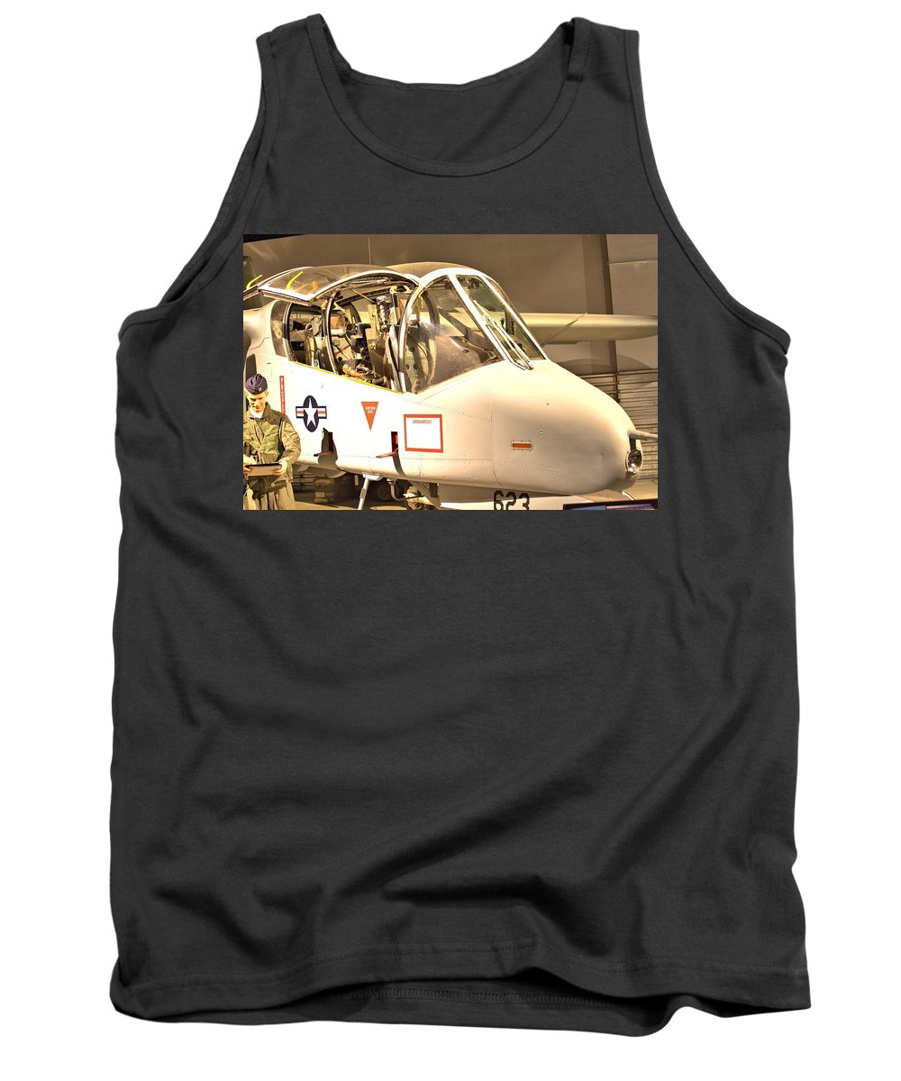 9831 Tank Top featuring the photograph Ov-10 Bronco by Gordon Elwell