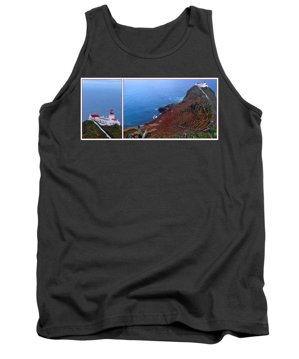 Lighthouse Tank Top featuring the photograph Overlooking The Atlantic by M Bernardo