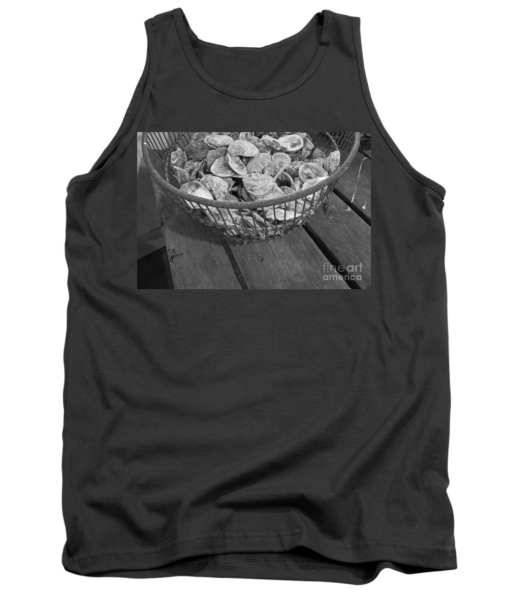 Oyster Shells Tank Top featuring the photograph Oysters by Nancy Patterson