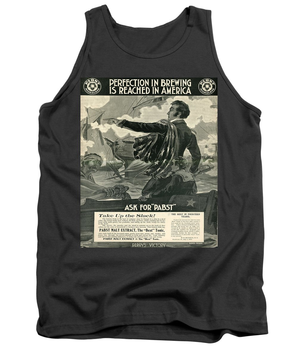 Brewery Tank Top featuring the digital art Pabst by Cathy Anderson