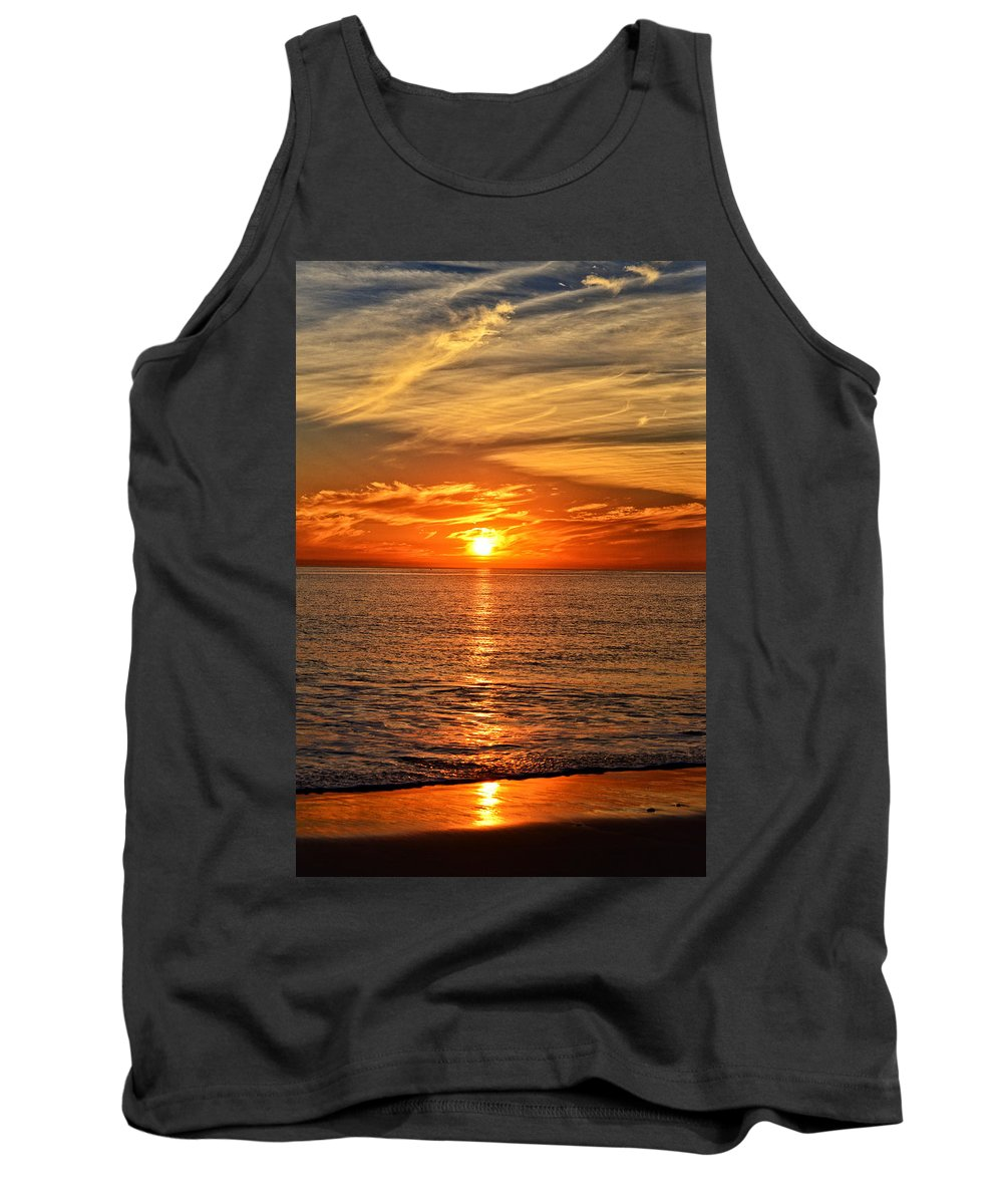Pacific Tank Top featuring the photograph Pacific Ocean Sunset by Lynn Bauer