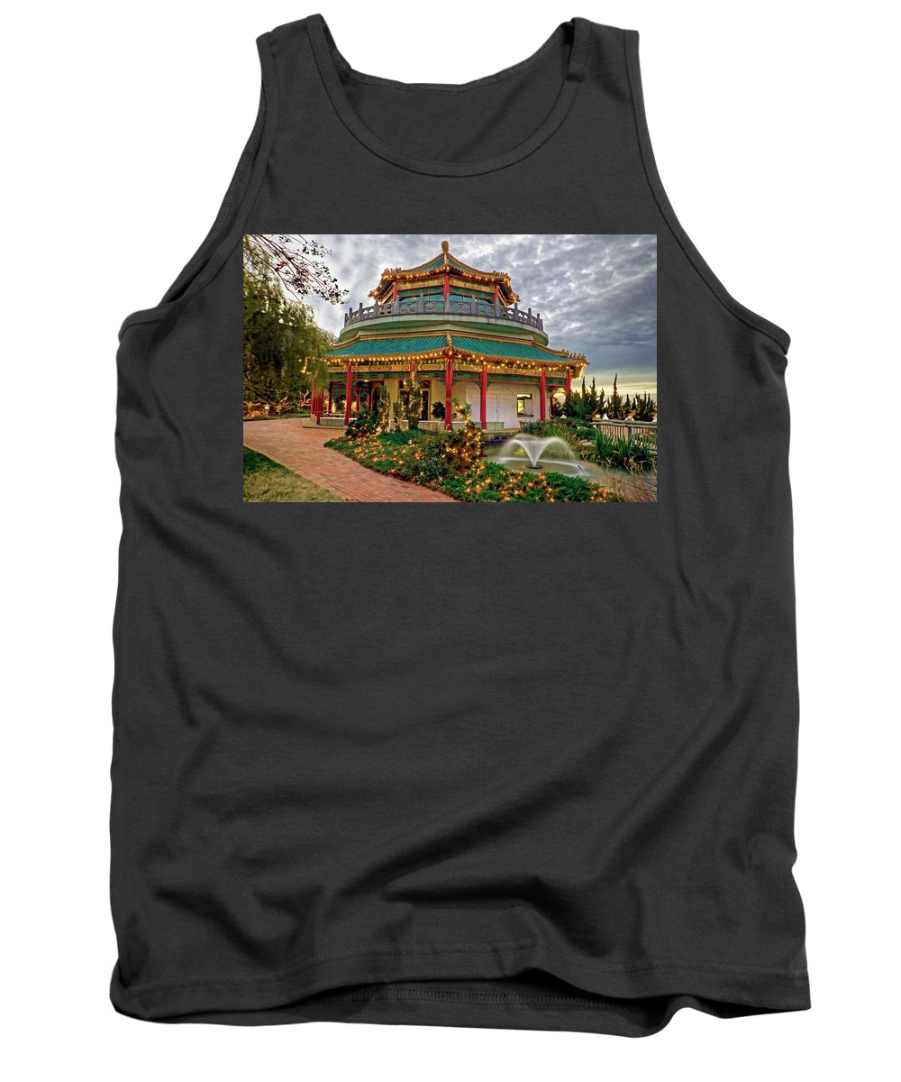Pagoda Tank Top featuring the photograph Pagoda In Norfolk Virginia by Jerry Gammon