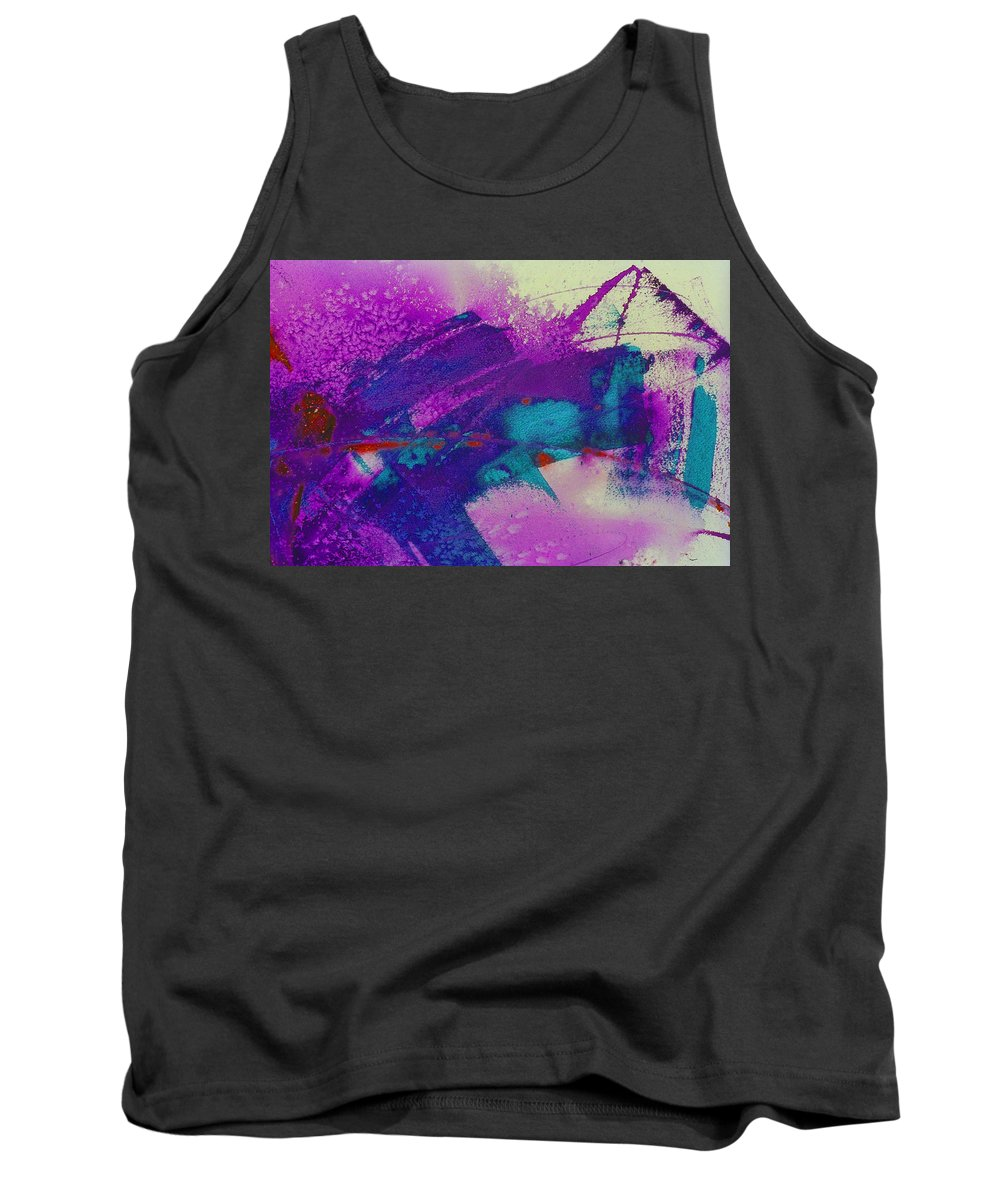 Blue Tank Top featuring the photograph Paint Strokes by Don Hammond