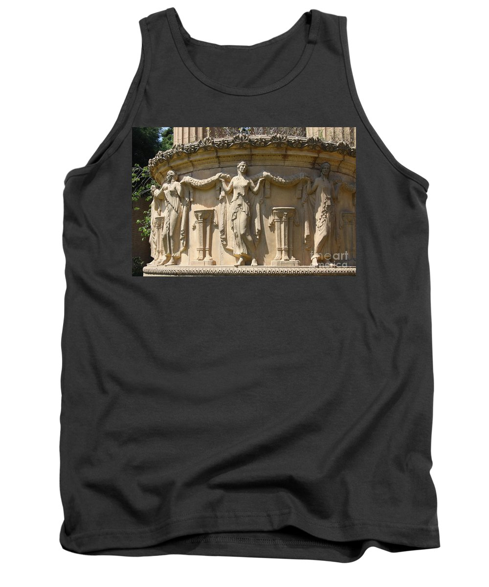 Relief Tank Top featuring the photograph Palace Of Fine Arts Relief San Francisco by Christiane Schulze Art And Photography