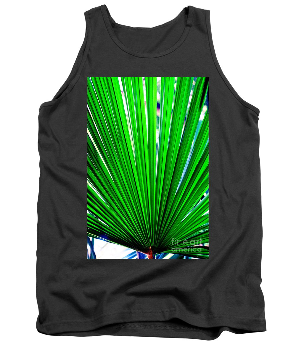 Nature Tank Top featuring the photograph Palm Leaf 6687 by Earl Johnson