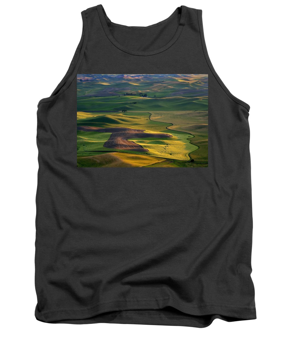 Palouse Tank Top featuring the photograph Palouse Shadows by Mike Dawson