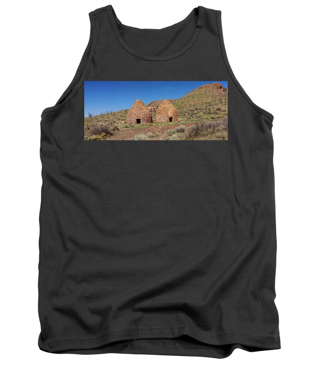 Landscape Tank Top featuring the photograph Pananca Summit Charcoal Kilns by David Salter