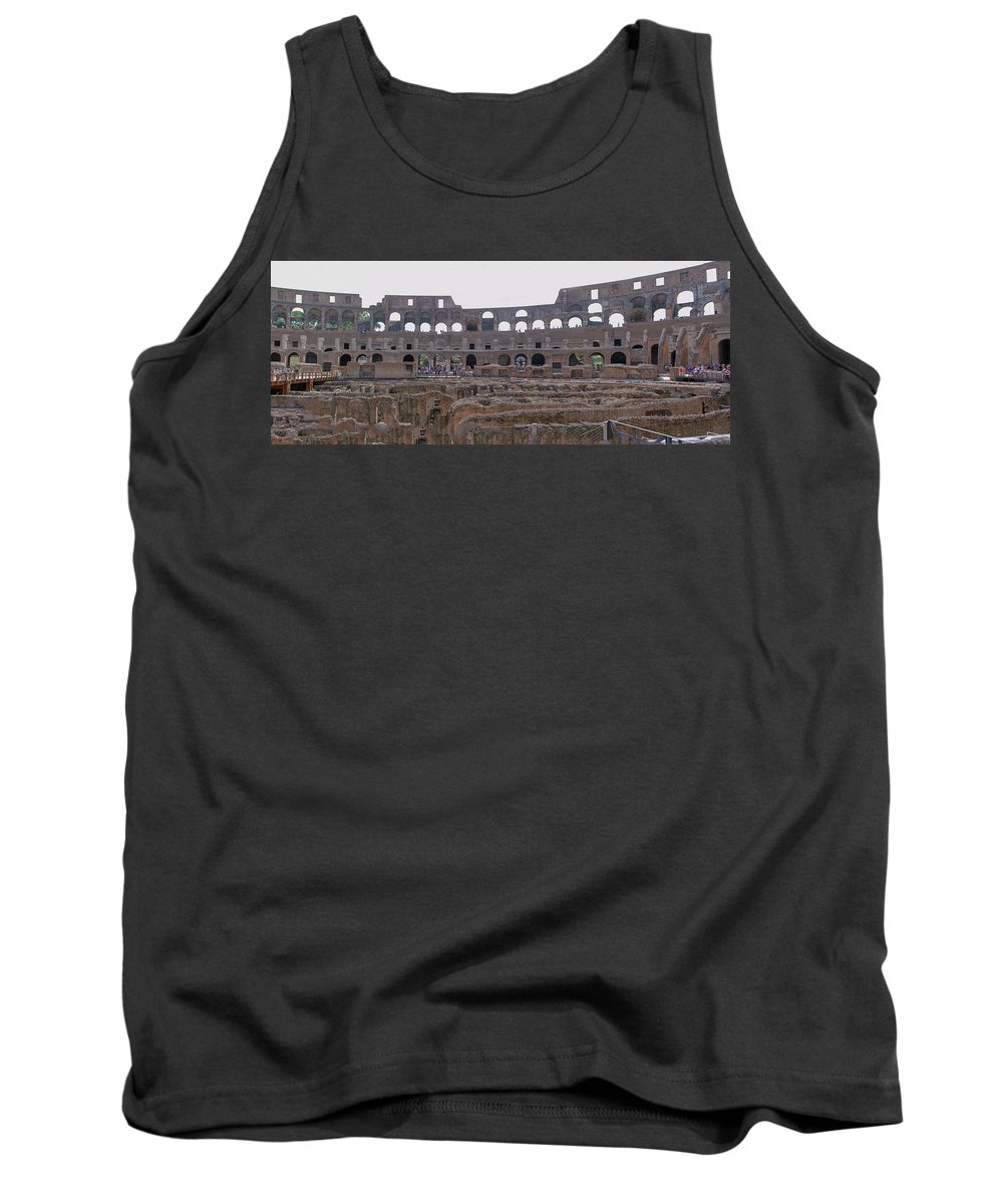 Panoramic Tank Top featuring the photograph Panoramic View Of The Colosseum by Allan Levin