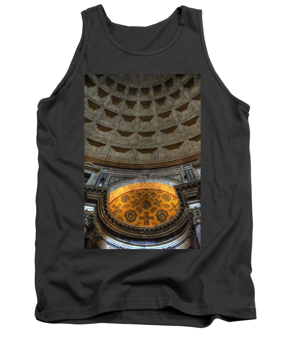 Pantheon Tank Top featuring the photograph Pantheon Ceiling Detail by Michael Kirk